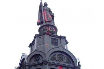 У столиці вандали облили фарбою пам'ятник князю Володимиру