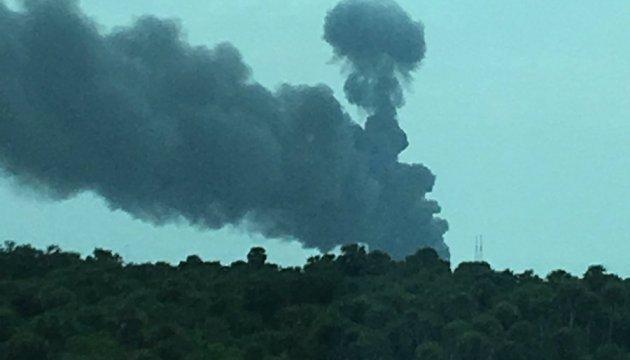 На стартовой площадке SpaceX произошла серия взрывов