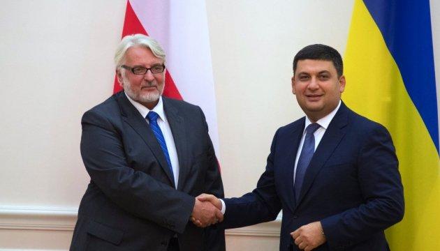 Гройсман запевнив Ващиковського, що Україна не зійде зі шляху до ЄС