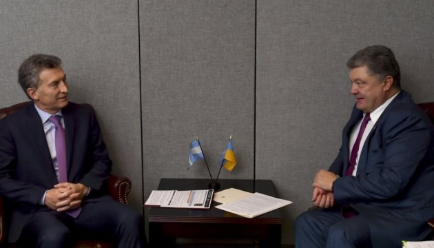 Порошенко обговорив з президентом Аргентини пріоритети співробітництва