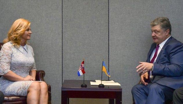 Порошенко сподівається, що Хорватія й після виборів підтримуватиме Україну
