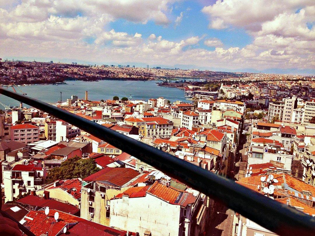 Панарома Стамбула с вершины Галатской башни