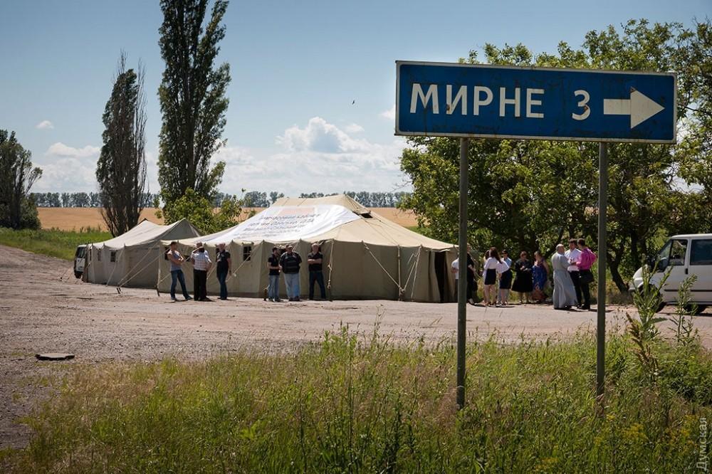 Палатка-рабочий кабінет глави Одеської обладміністрації Міхеіла Саакашвілі