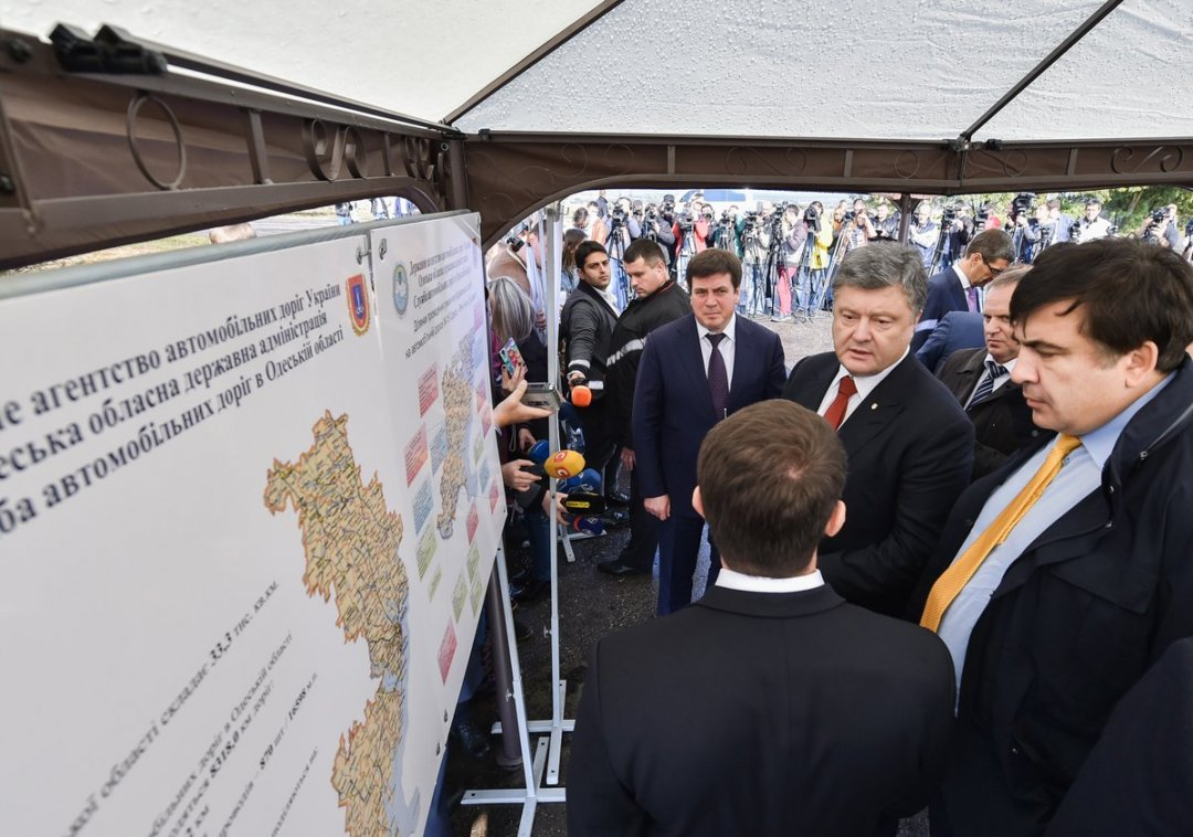 Президент України Петро Порошенко інспектує Одеську область