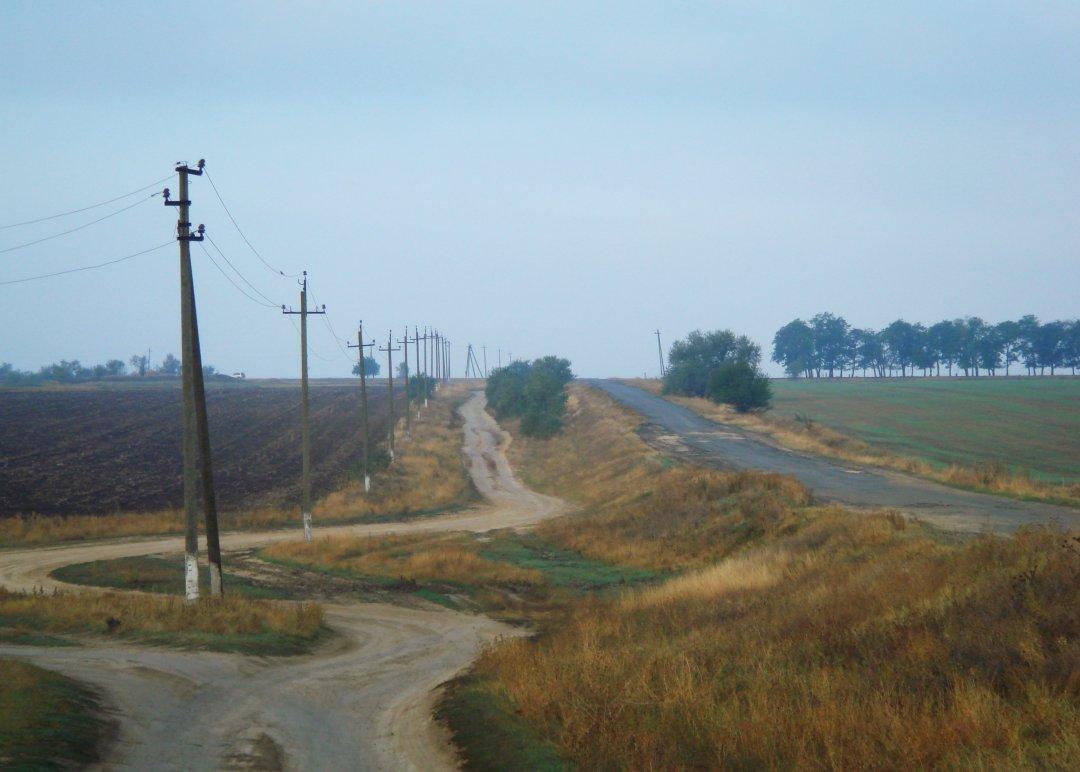 Селище Нові Трояни поблизу кордону з Молдовою