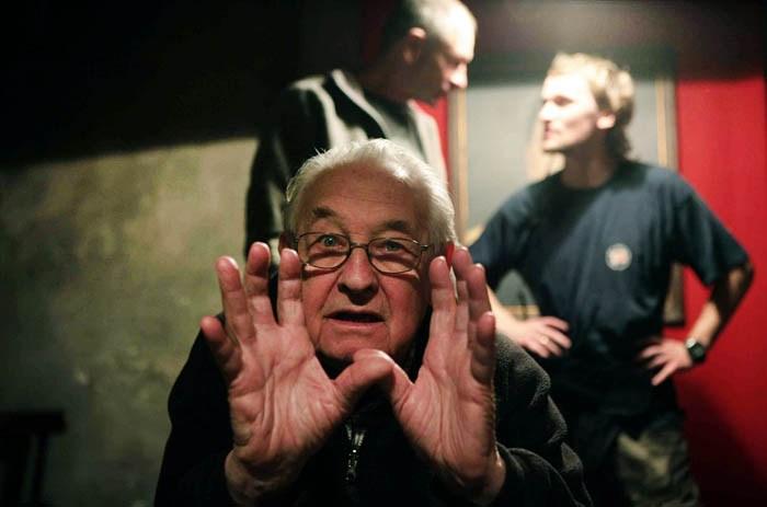 Анджей Вайда на съемках фильма «Катынь», 2007, фото: ИНТЕРФОТО / Forum
