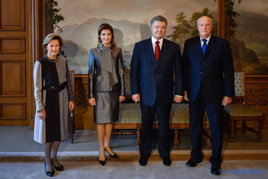 Порошенко подякував Королю Норвегії за підтримку України