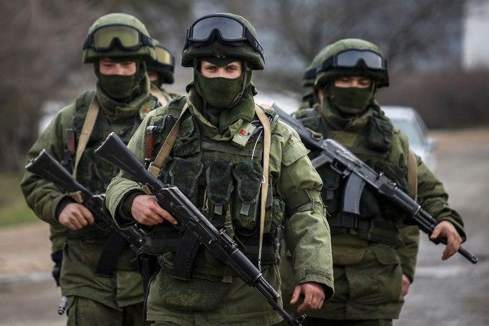 На фото: Російські військові, так звані,