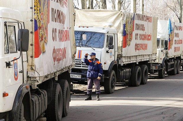 Російські вантажівки КамАЗ везуть