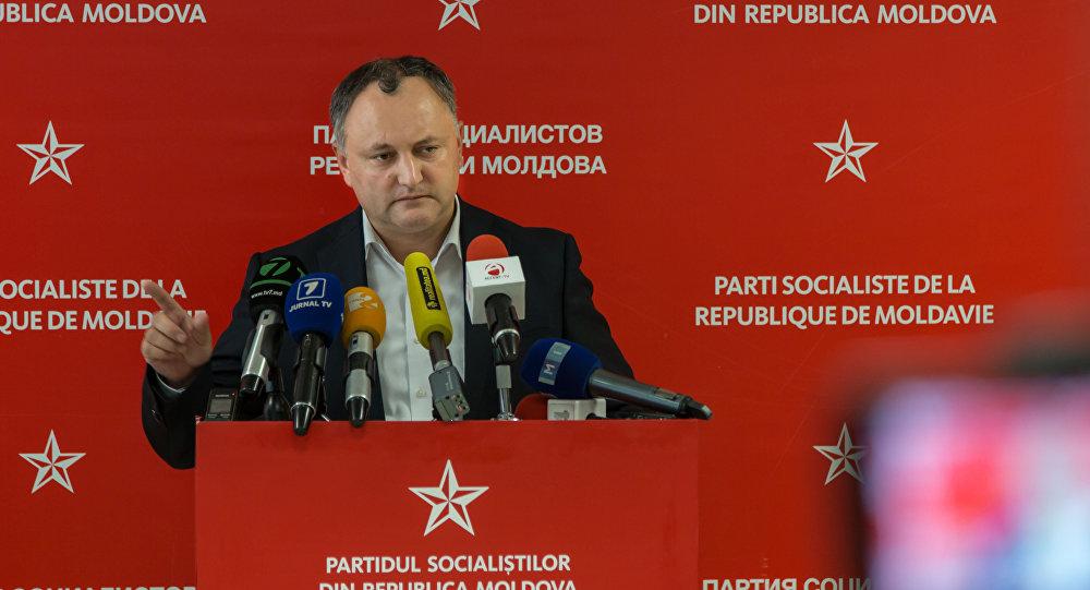 На фото: лідер Партії соціалістів Молдови Ігор Додон