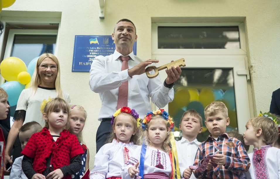 Віталій Кличко на відкритті реконструйованого дитячого садку № 720 у Печерському районі столиці / Фото kievcity.gov.ua