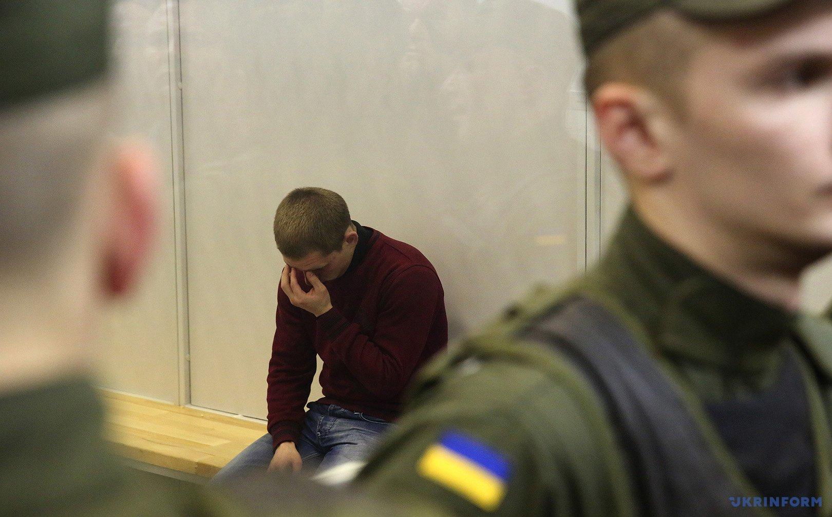 Заседание Апелляционного суда Киева по делу патрульного Нацполиции Сергея Олейника
