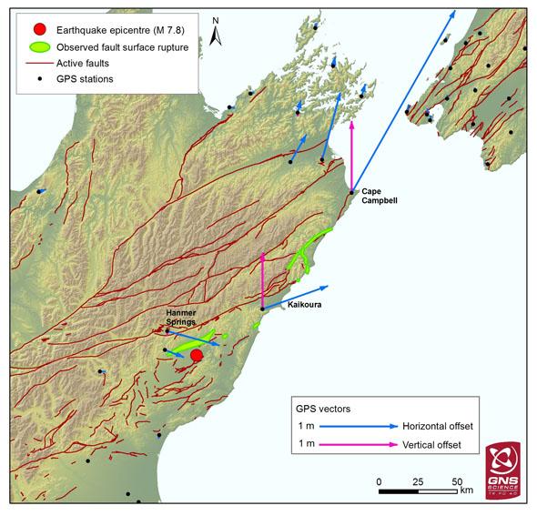 Новозеландские острова после землетрясения стали ближе друг кдругу