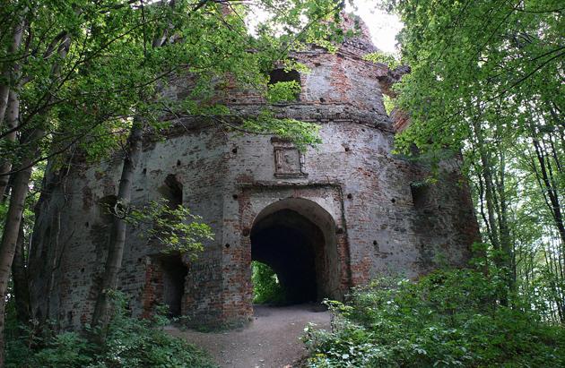 Добро́мильський за́мок (За́мок Ге́рбуртів), розташований за 4 км на південь від міста Добромиля, що в Старосамбірському районі Львівської області. Фото: wikipedia.org