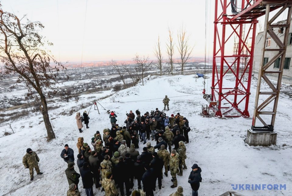 Порошенко открыл телевышку нагоре Карачун для вещания натерриторию ДНР
