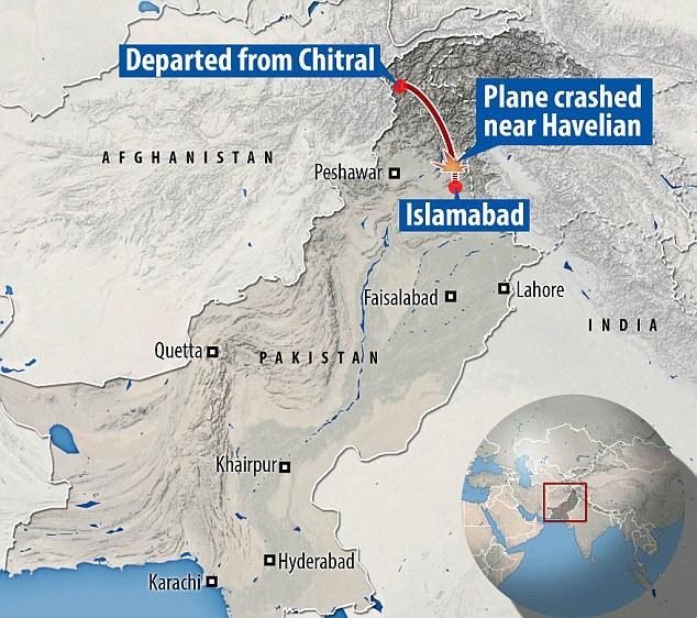 Аварія сталася недалеко від Хавеліан на півночі Пакистану Ісламабада літак втратив контакт з контролем заземлення