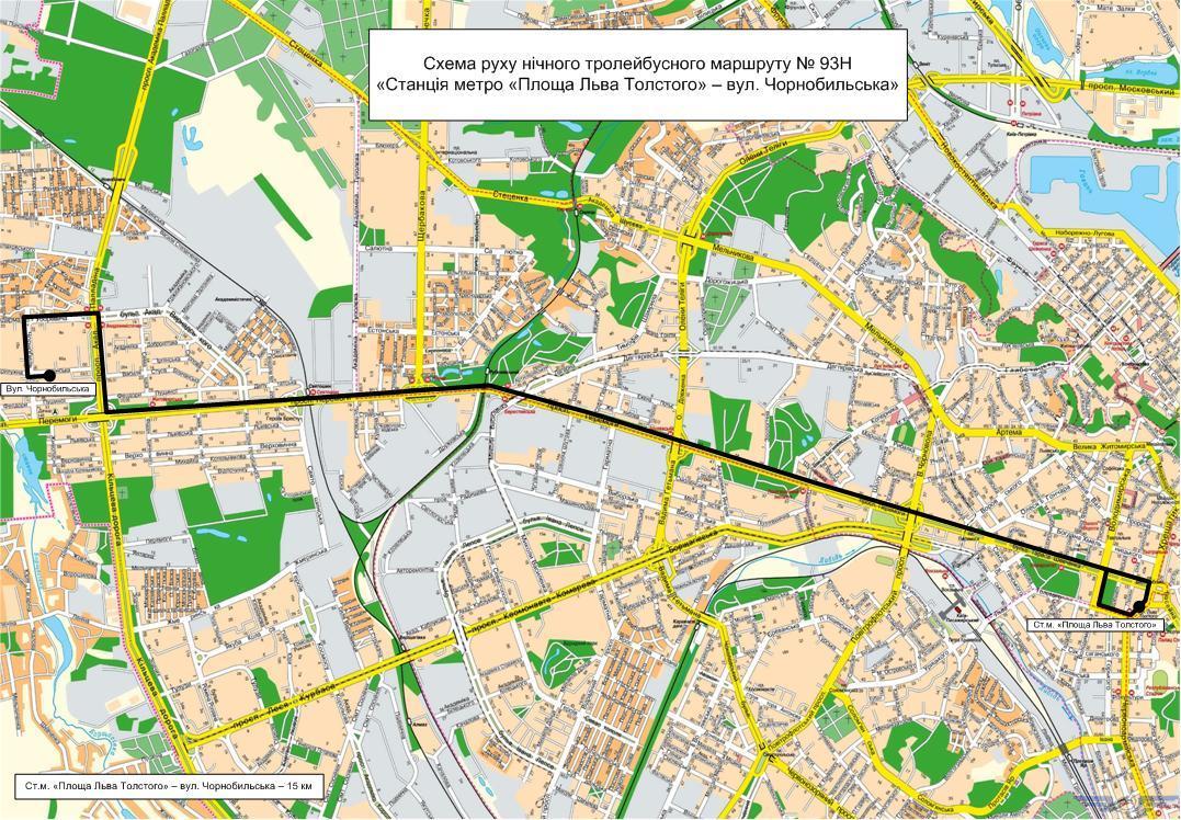 ВКиеве запустят 4 ночных маршрута социального транспорта
