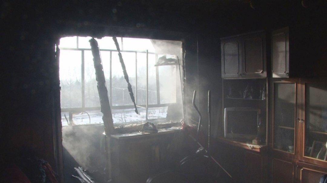 Пожар наХмельницкого: сгорел человек