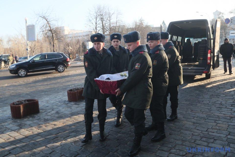Вцентре столицы Украины попрощались с«Козаком», убитым боевиками