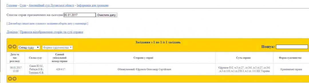 Скрін з lga.court.gov.ua