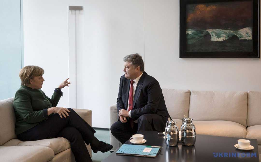 Ангела Меркель, Петро Порошенко