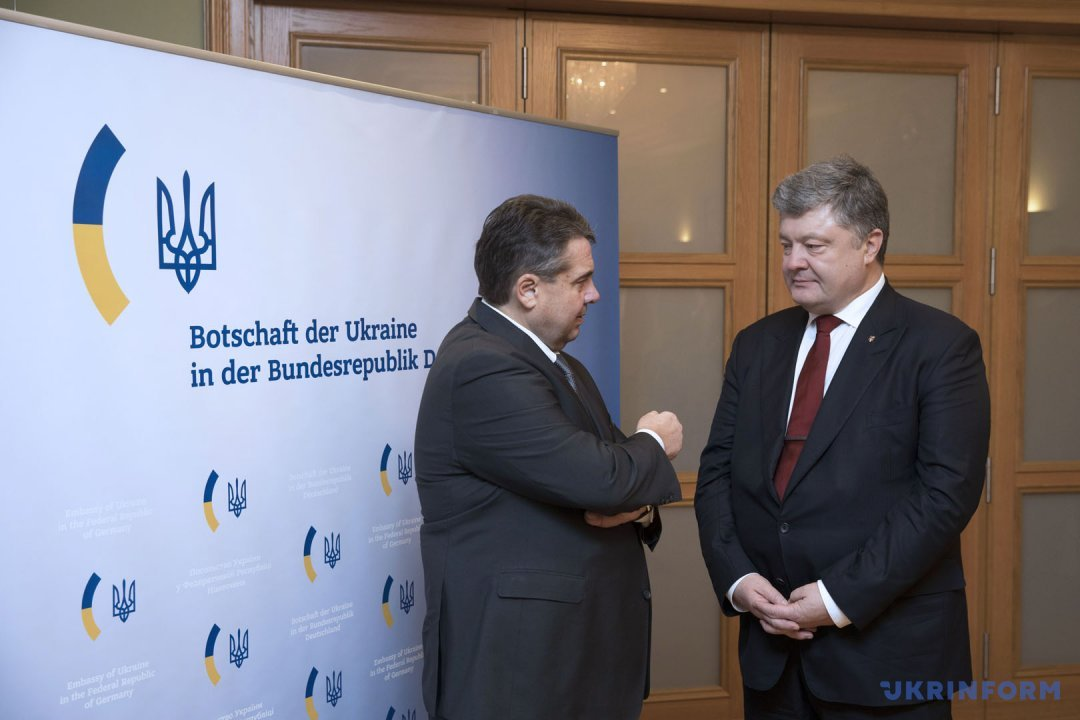 Зигмар Габриэль и Петр Порошенко