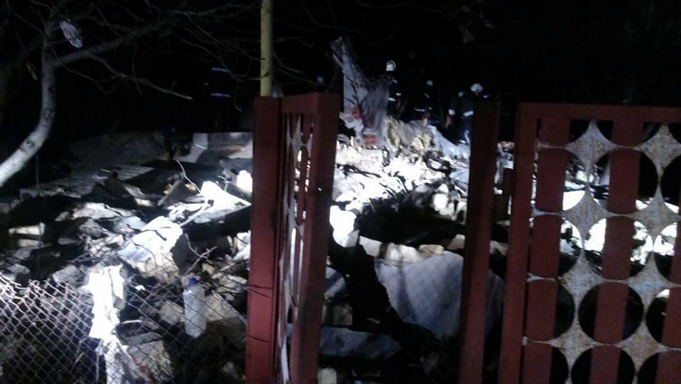 Сильнейший взрыв разрушил дом дооснования наОдесчине