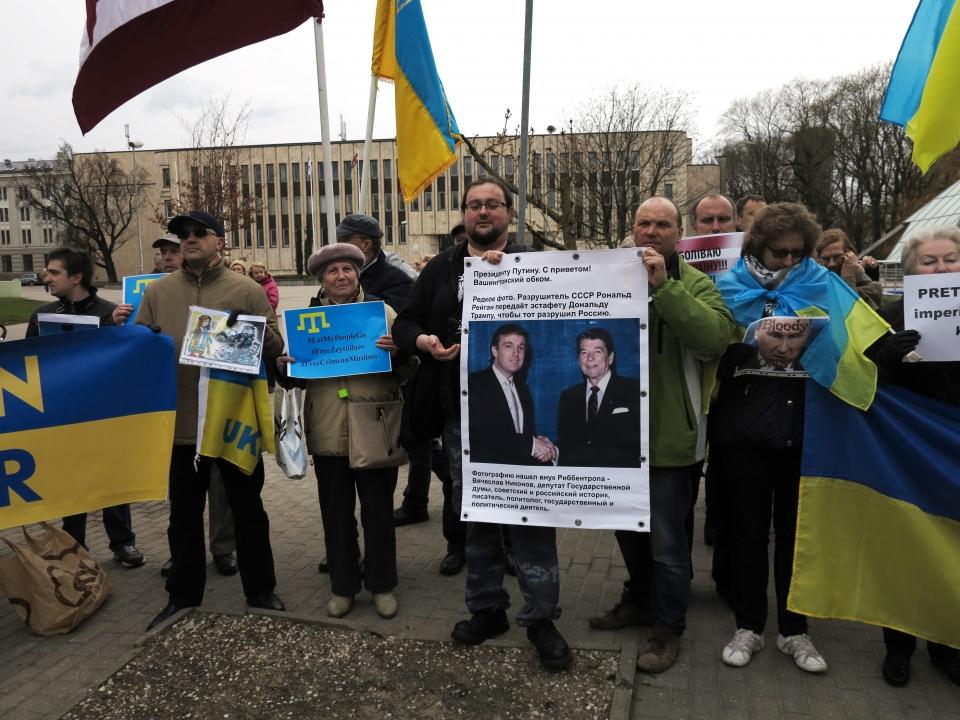 """У Ризі пройшла міжнародна акція """"Stop Putin's War in Ukraine 4.0"""""""