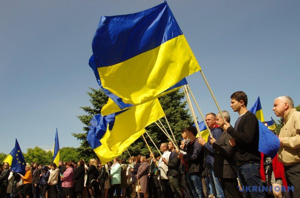 Наплощади Свободы прошли празднества послучаю получения Украинским государством безвиза