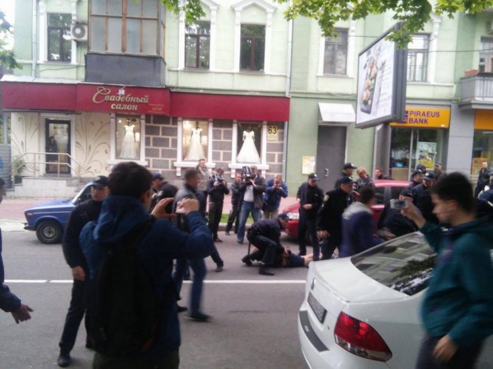ВХерсоне напали нагей-парад