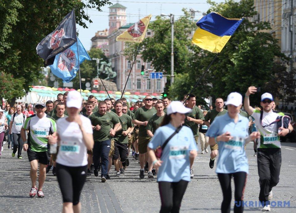 В «Пробеге под каштанами» вКиеве приняли участие неменее 10 тыс. человек