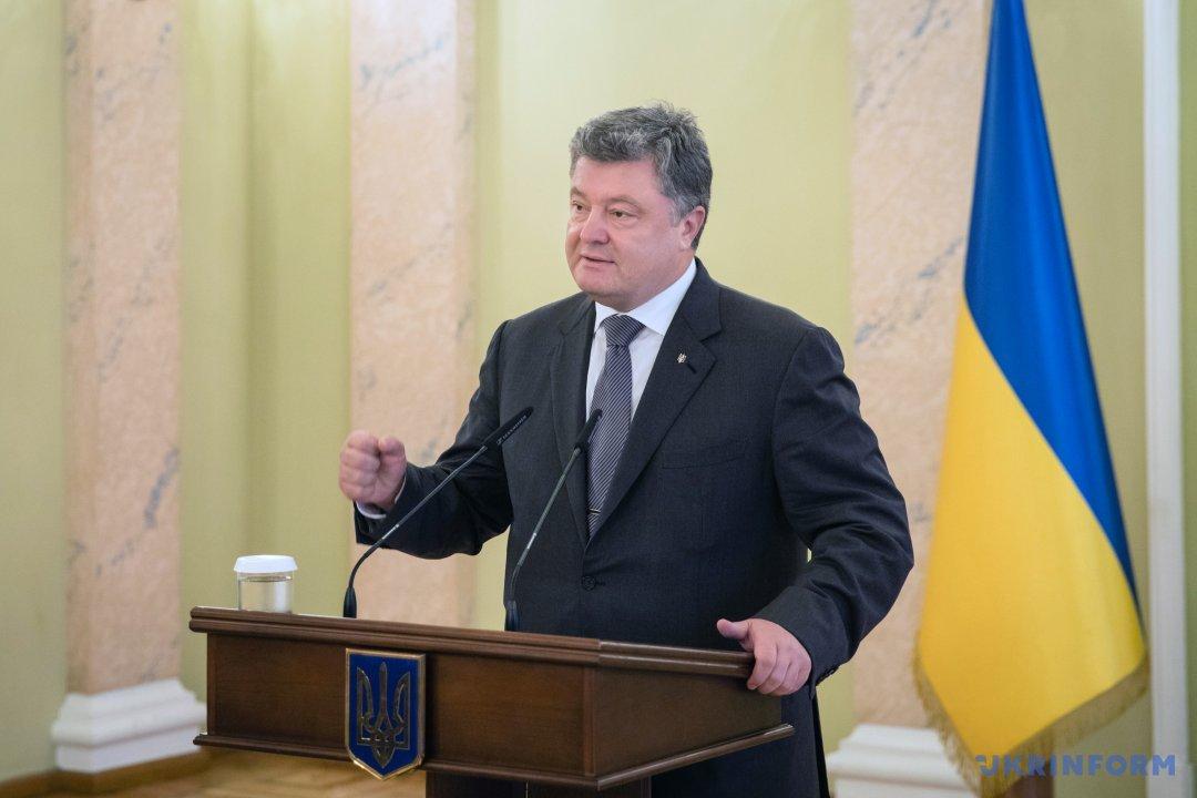 Poroshenko thanks Kiska for supporting Ukraine's sovereignty, territorial integrity and independence