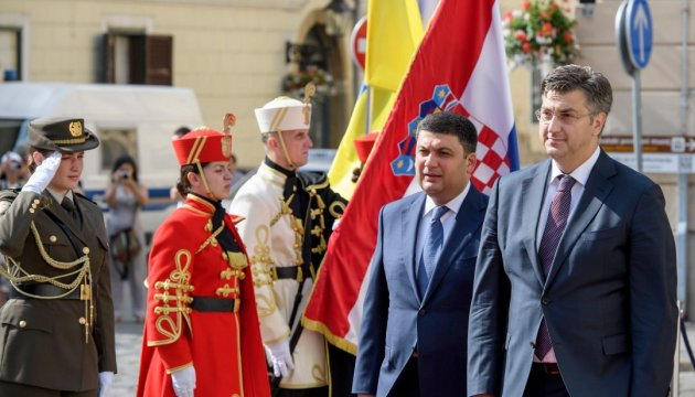 Groysman highly praises level of bilateral dialogue between Kyiv and Zagreb