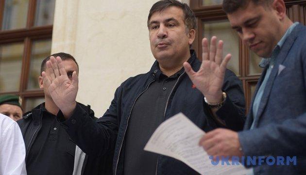 Law enforcers detain ex-Georgian president Saakashvili