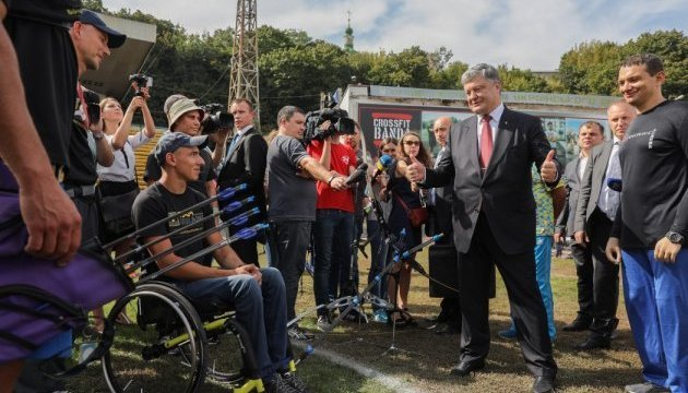 President Poroshenko: Ukraine will root for national team at Invictus Games. Photos