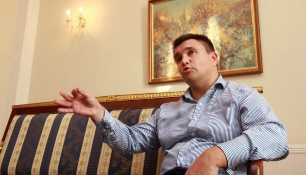 Klimkin discusses with Swedish counterpart deployment of UN peacekeepers in Donbas
