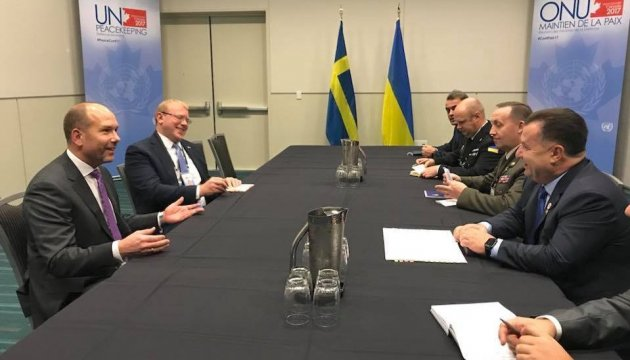 Poltorak, Canadian diaspora coordinate joint actions on peacekeepers in Donbas