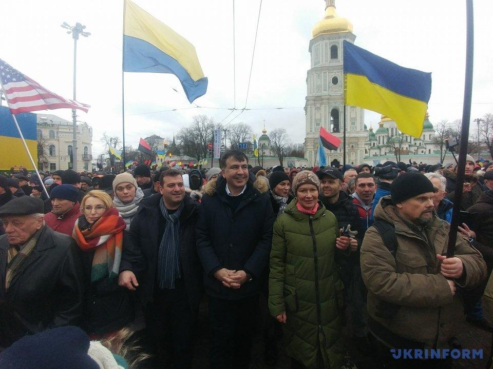 Уцентр Києва стягнули 2 тисячі поліцейських танацгвардійців