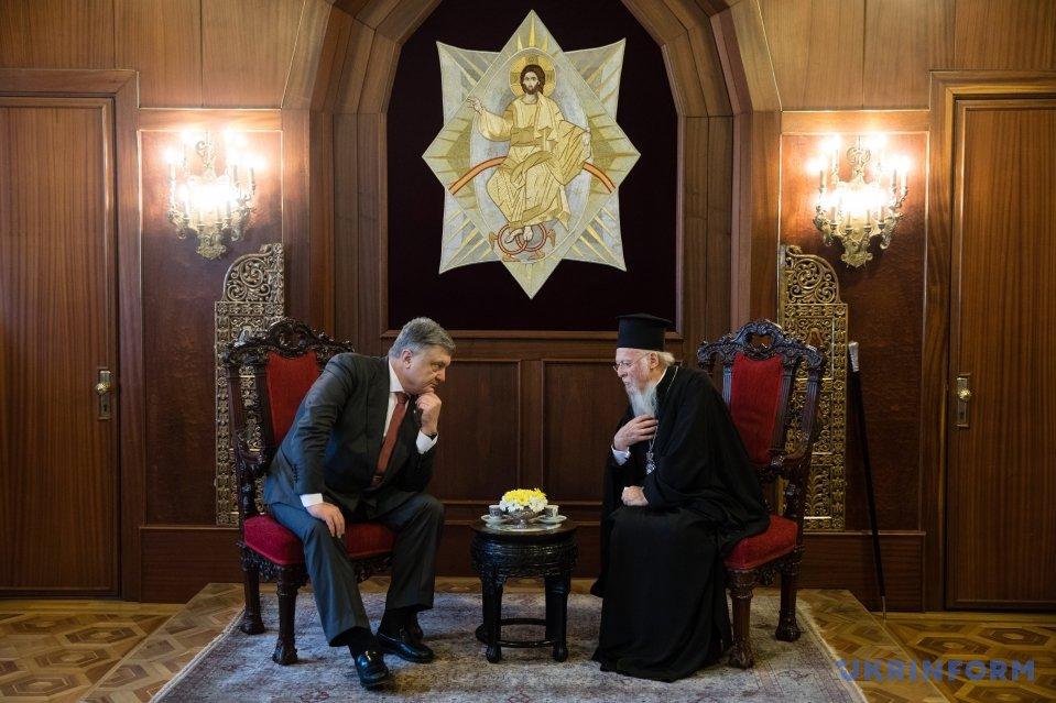 Вселенський Патріарх Варфоломій зустрівся зПорошенком і привітав українців із Великоднем
