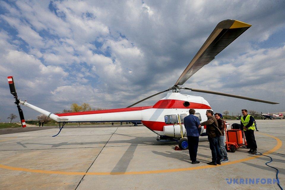 Первый украинский вертолет поднялся ввоздух вЗапорожье