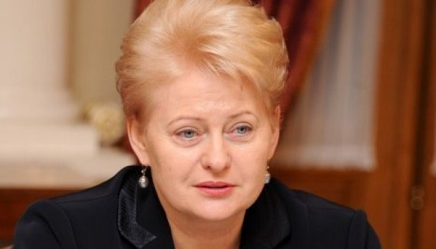 Grybauskaite at UN: Russia is blackmailing and bullying Ukraine