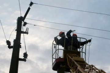 Bad weather causes blackouts in 94 towns, villages in 7 regions of Ukraine
