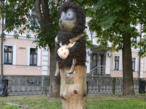 У Ежика в тумане в Киеве украли узелок с вареньем и выдрали иголки