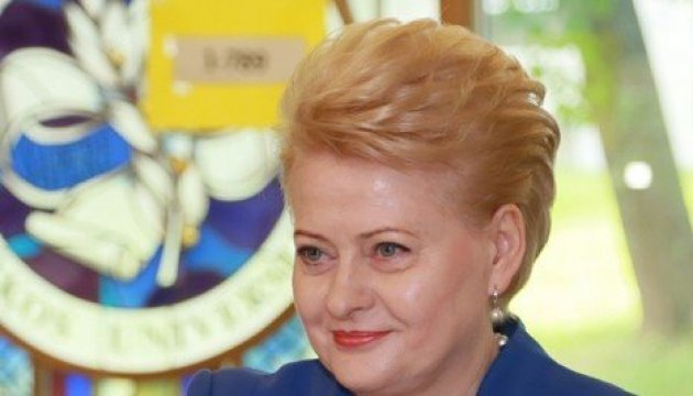 Grybauskaitė to make working visit to Kharkiv, hold meeting with Poroshenko