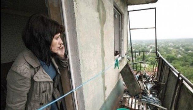 Le village de Novolouhanske est en cours d'évacuation après les bombardements d'hier