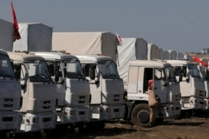 """ОБСЄ зафіксувала на окупованому Донбасі вантажівки з російською """"гуманітаркою"""""""