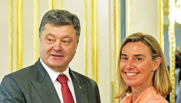 UN-Generalversammlung in New York: Poroschenko spricht mit Mogherini
