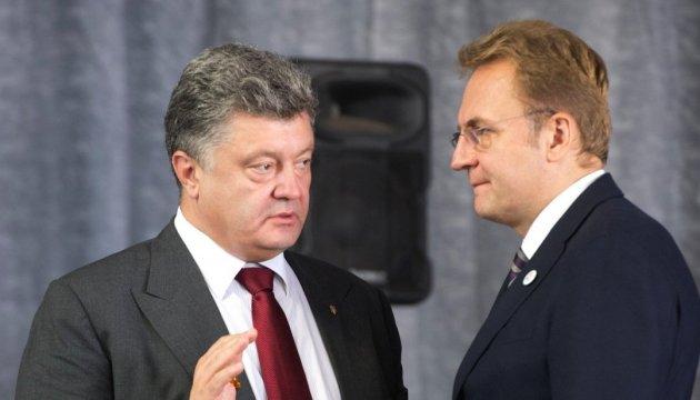 Party leader Sadovy spoke with President Poroshenko