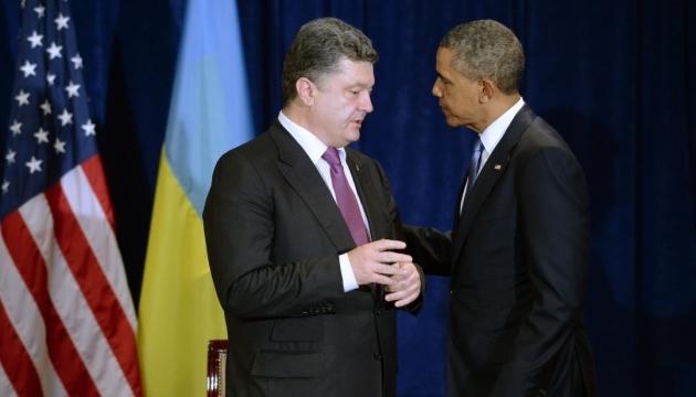 Порошенко обсудил с Обамой реализацию минских соглашений