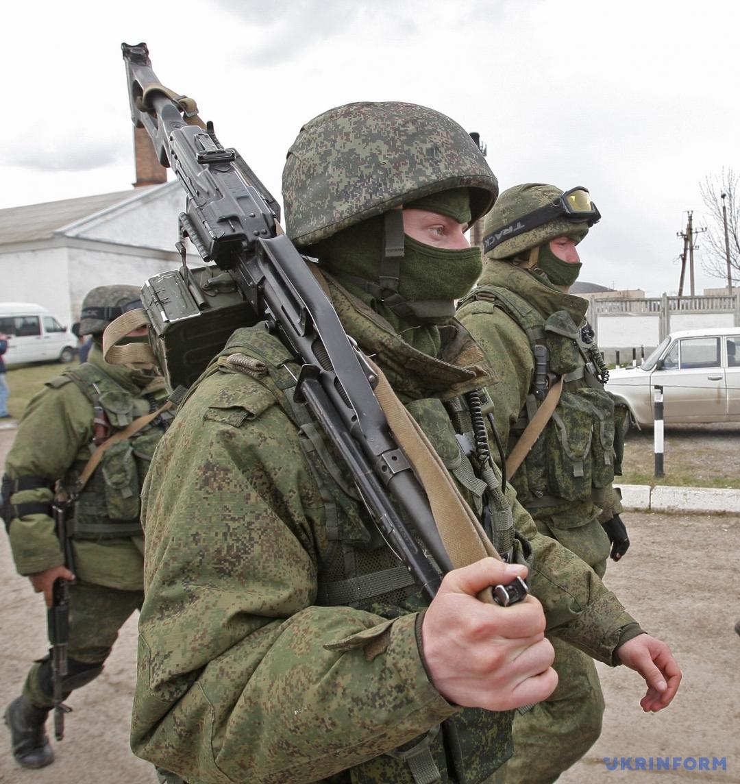 Солдаты российской армии в Крыму